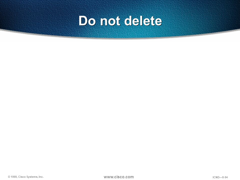 Do not delete