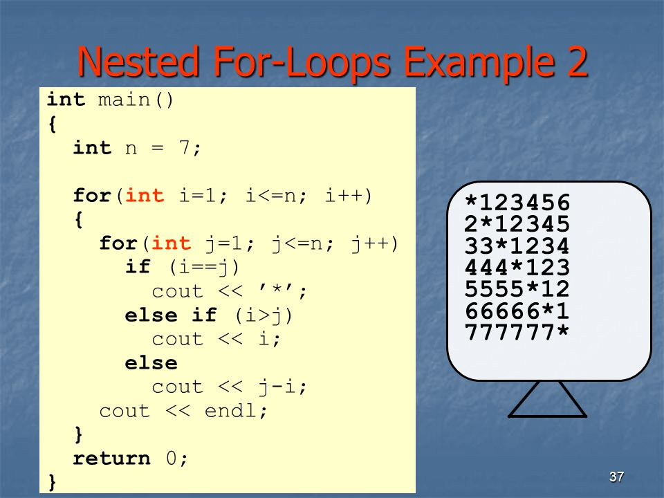 Nested For-Loops Example 2