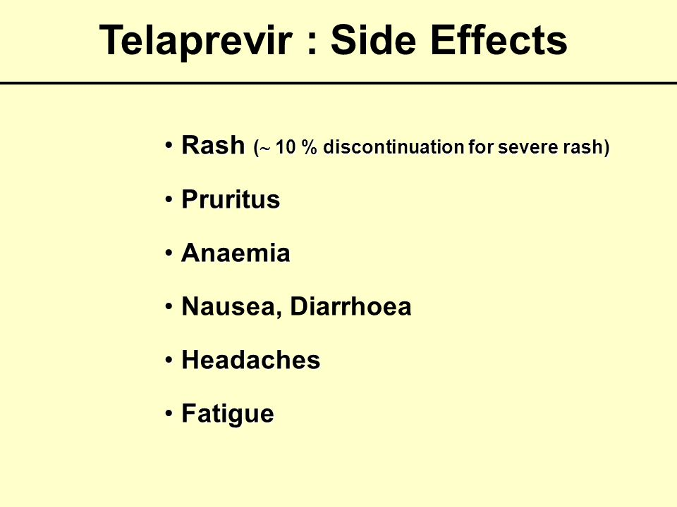 Telaprevir : Side Effects