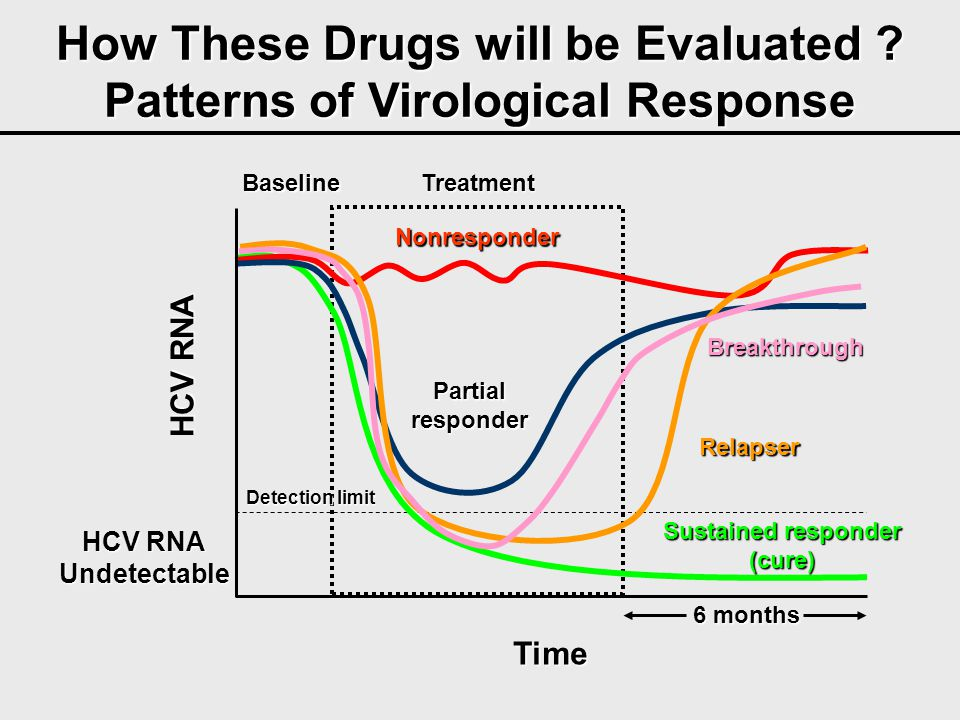 How These Drugs will be Evaluated Patterns of Virological Response