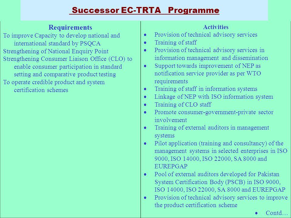 Successor EC-TRTA Programme