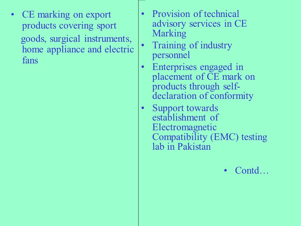 CE marking on export products covering sport
