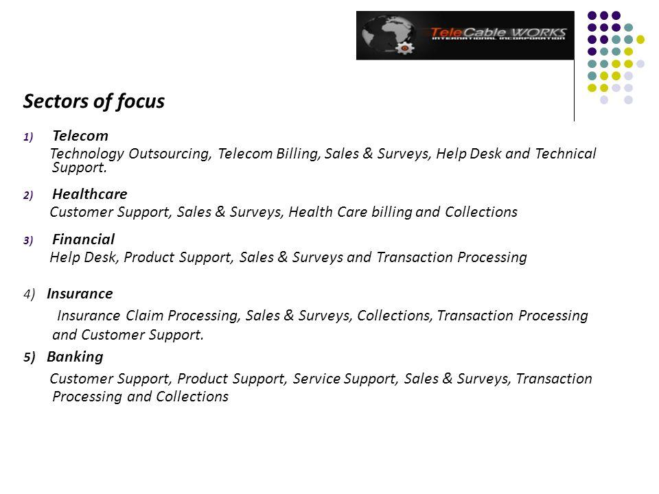 Sectors of focus Telecom