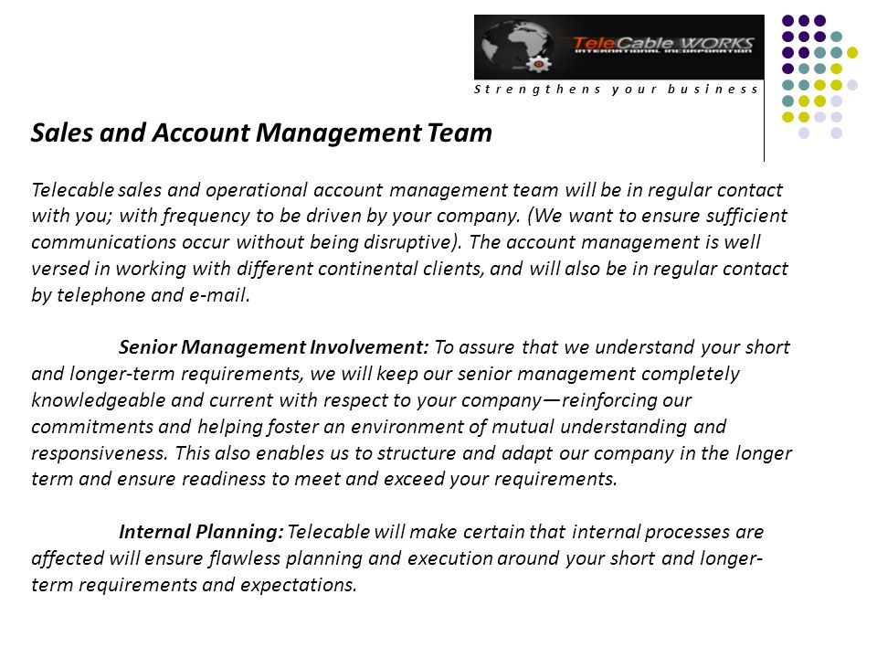 Sales and Account Management Team