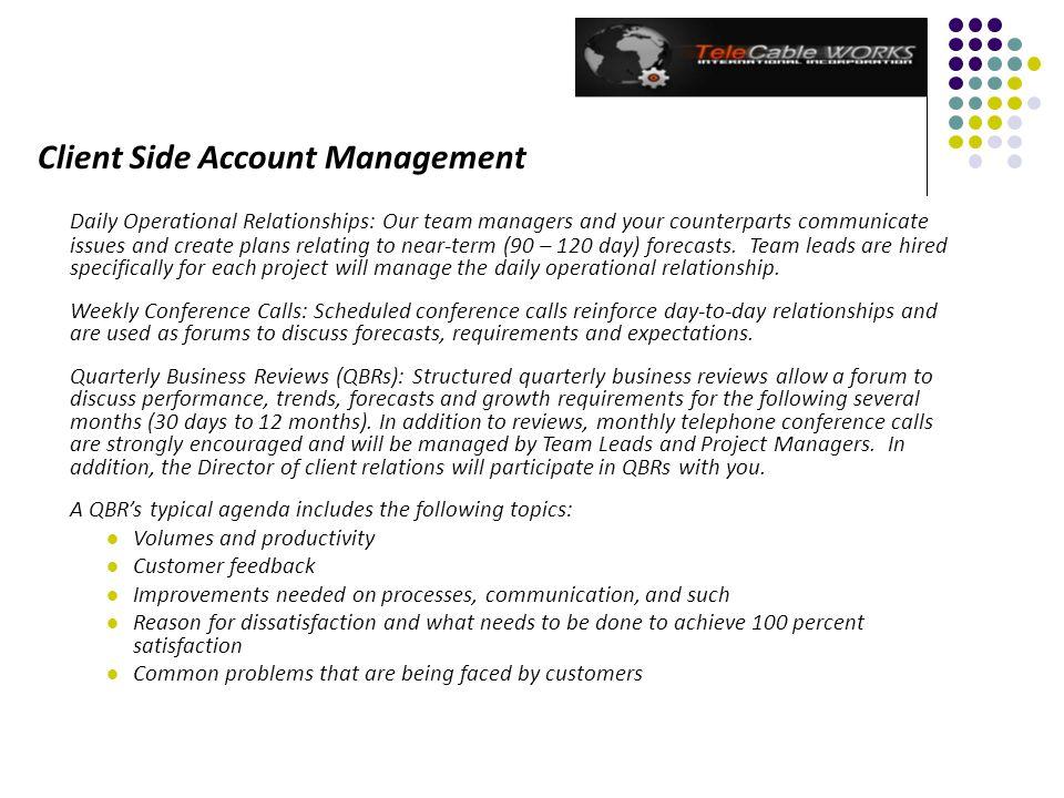 Client Side Account Management