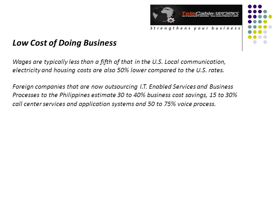 Low Cost of Doing Business