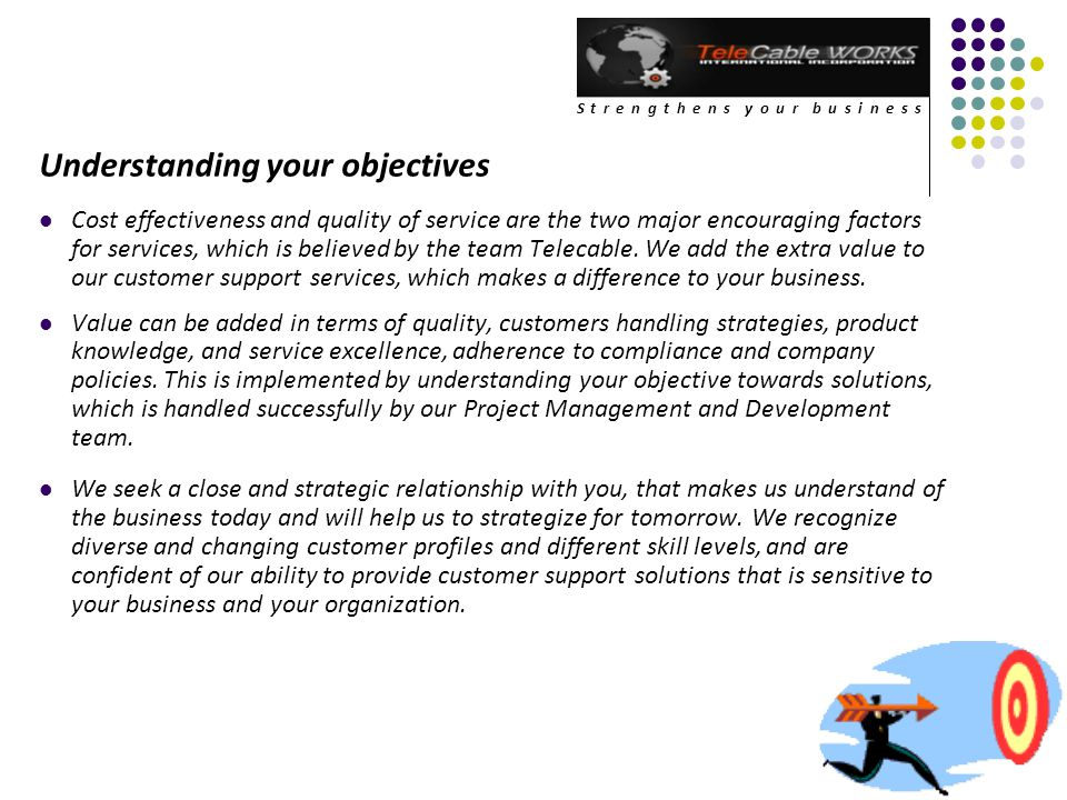 Understanding your objectives