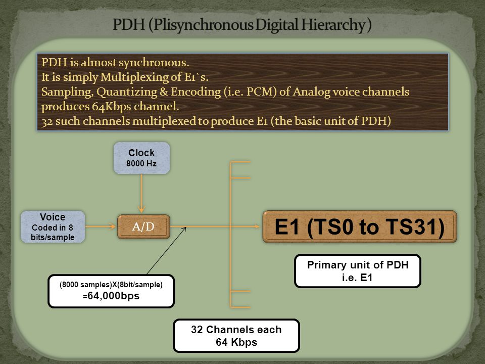PDH (Plisynchronous Digital Hierarchy )