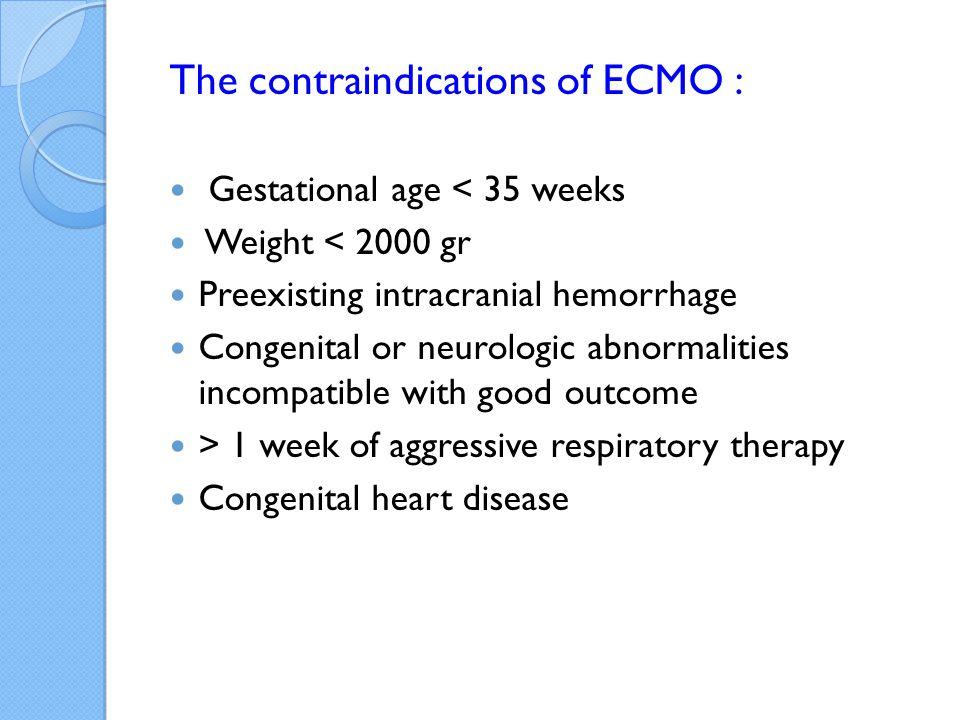 The contraindications of ECMO :