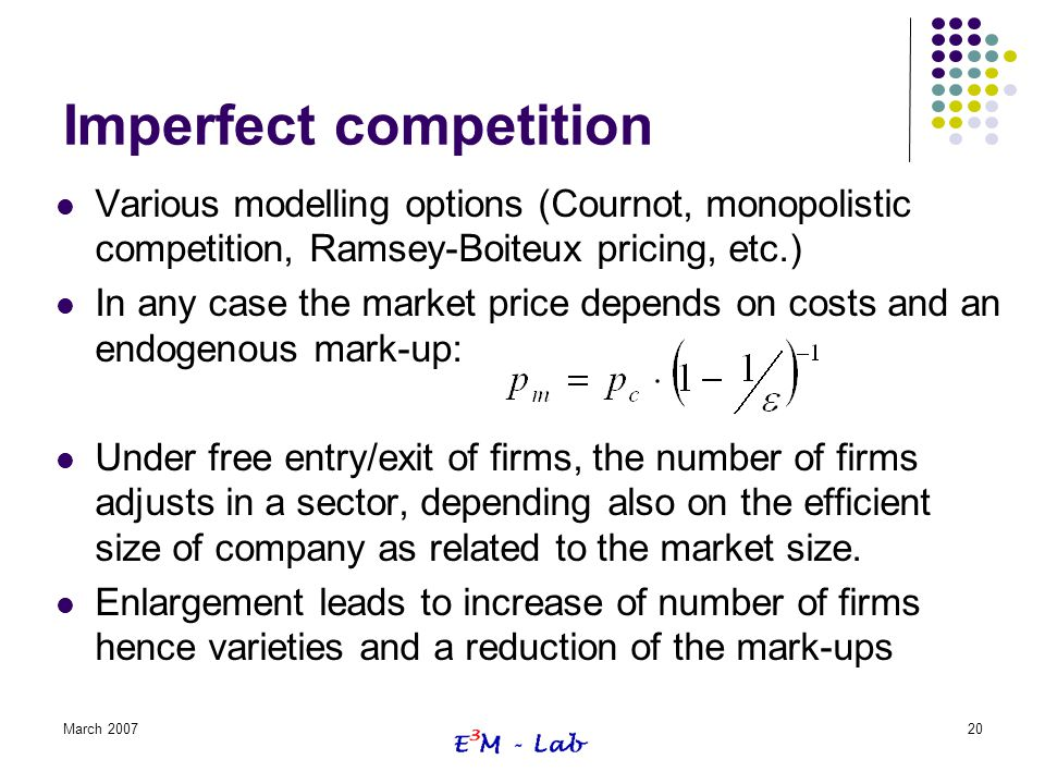 Imperfect competition
