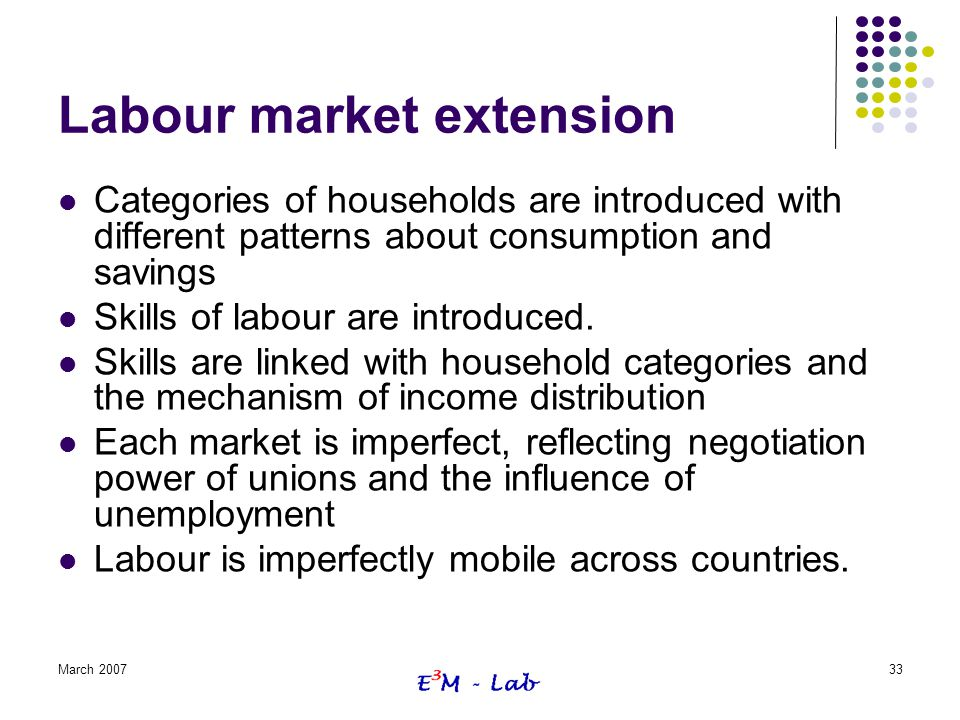 Labour market extension