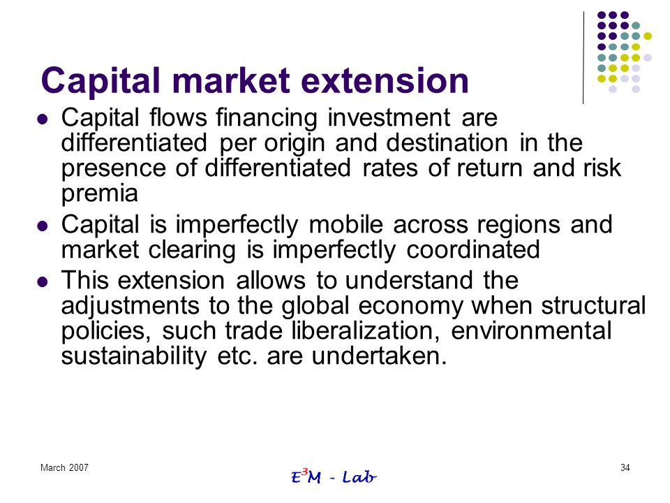 Capital market extension