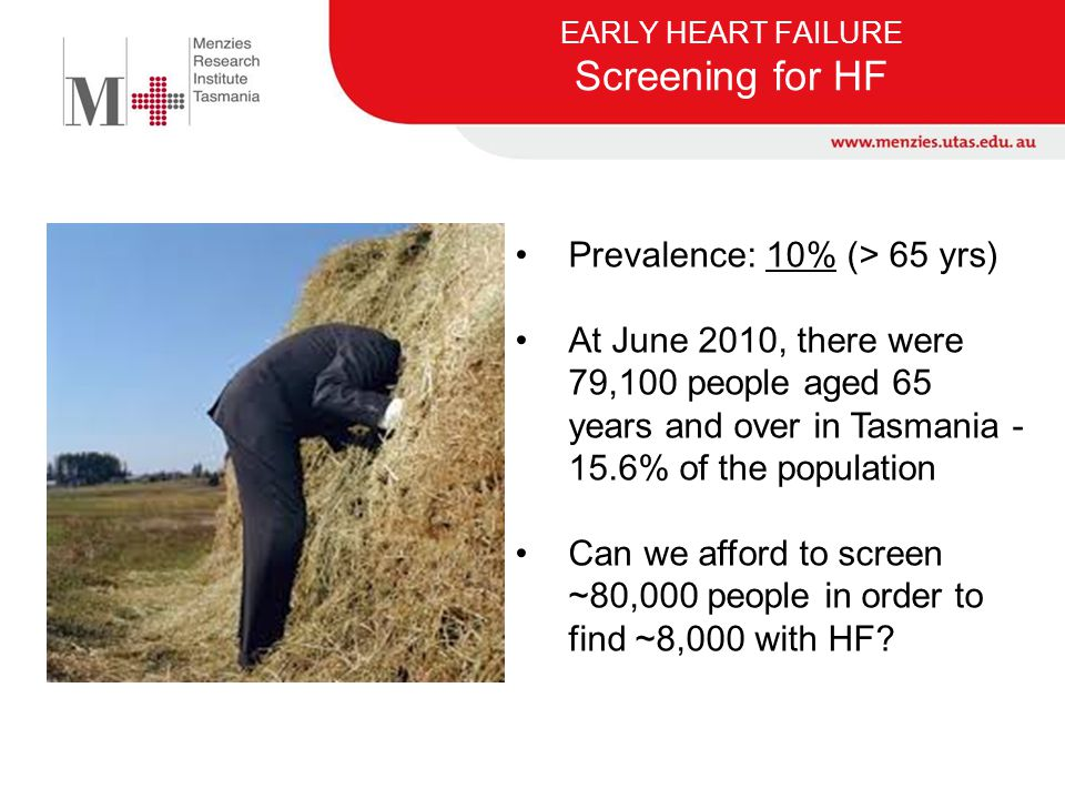 EARLY HEART FAILURE Screening for HF