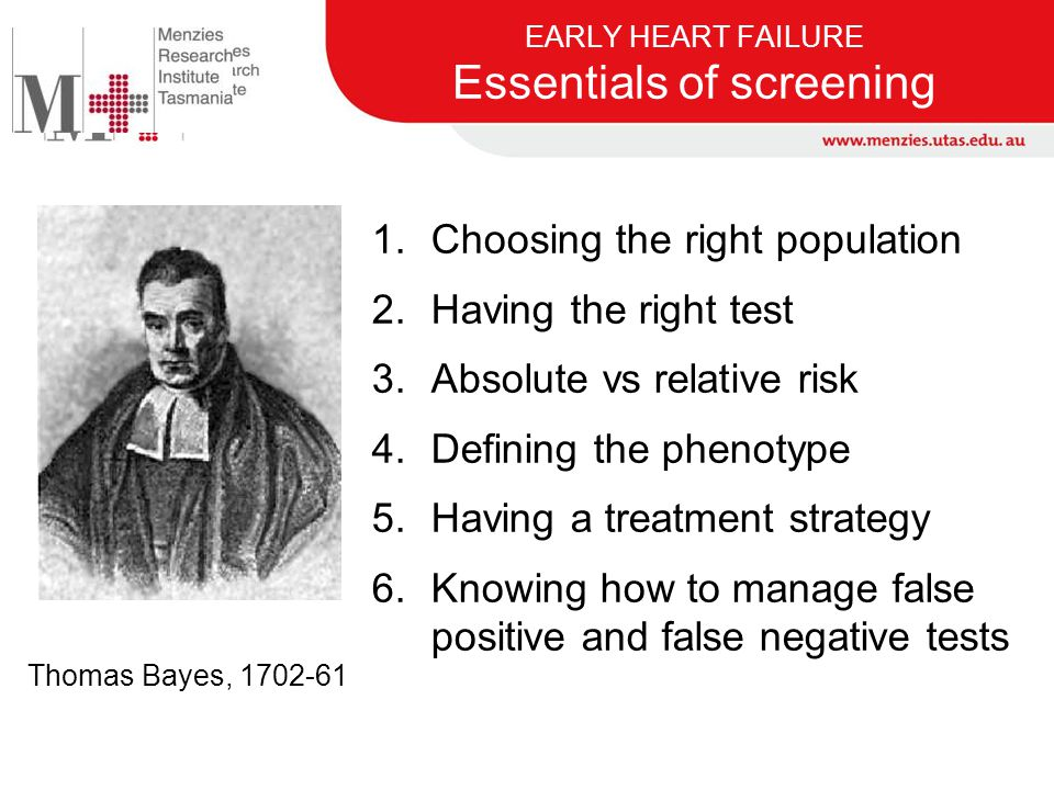 EARLY HEART FAILURE Essentials of screening