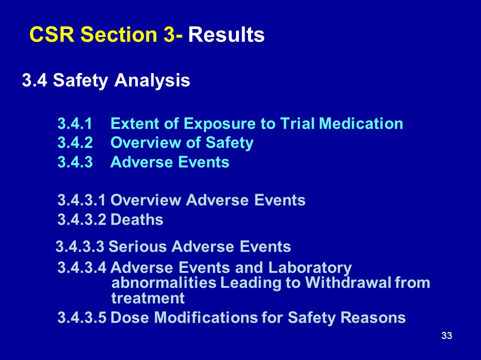 3.4.3.3 Serious Adverse Events