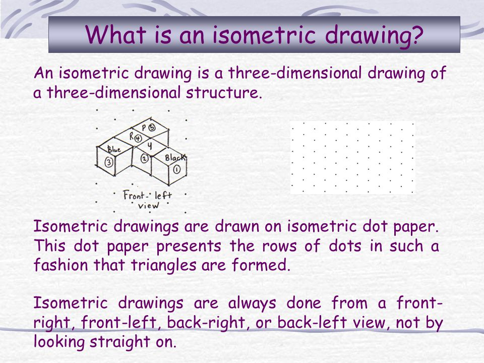 What is an isometric drawing