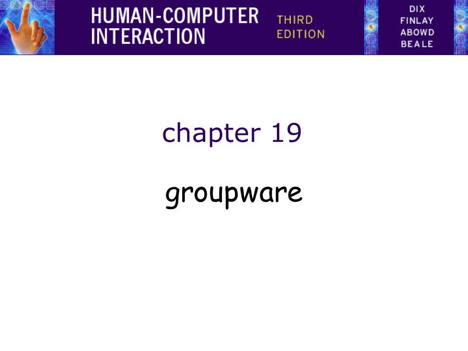 chapter 19 groupware