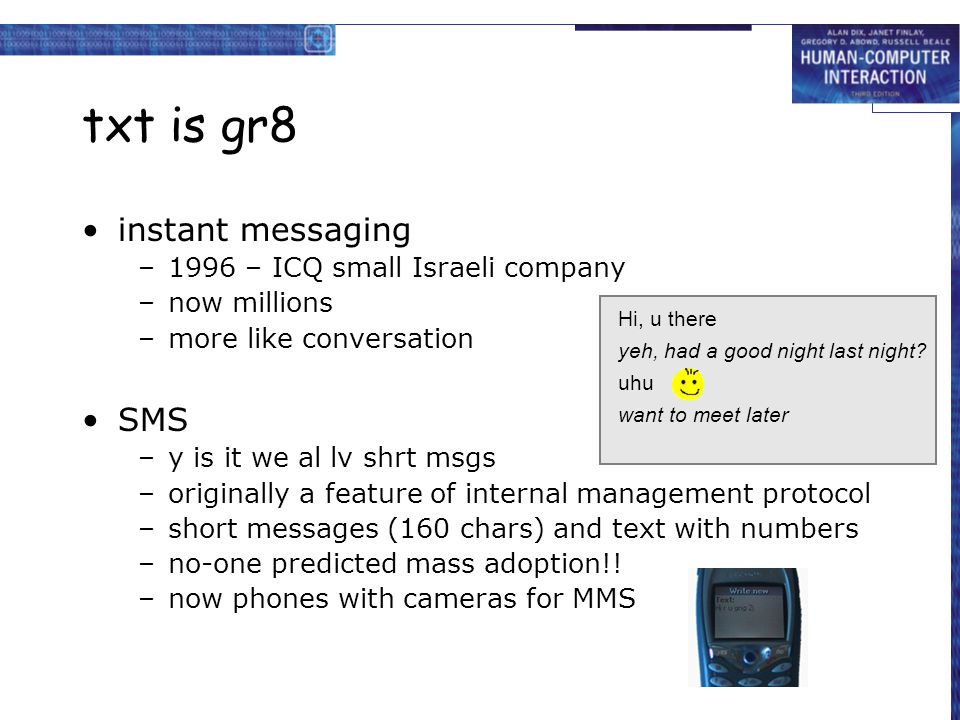 txt is gr8 instant messaging SMS 1996 – ICQ small Israeli company