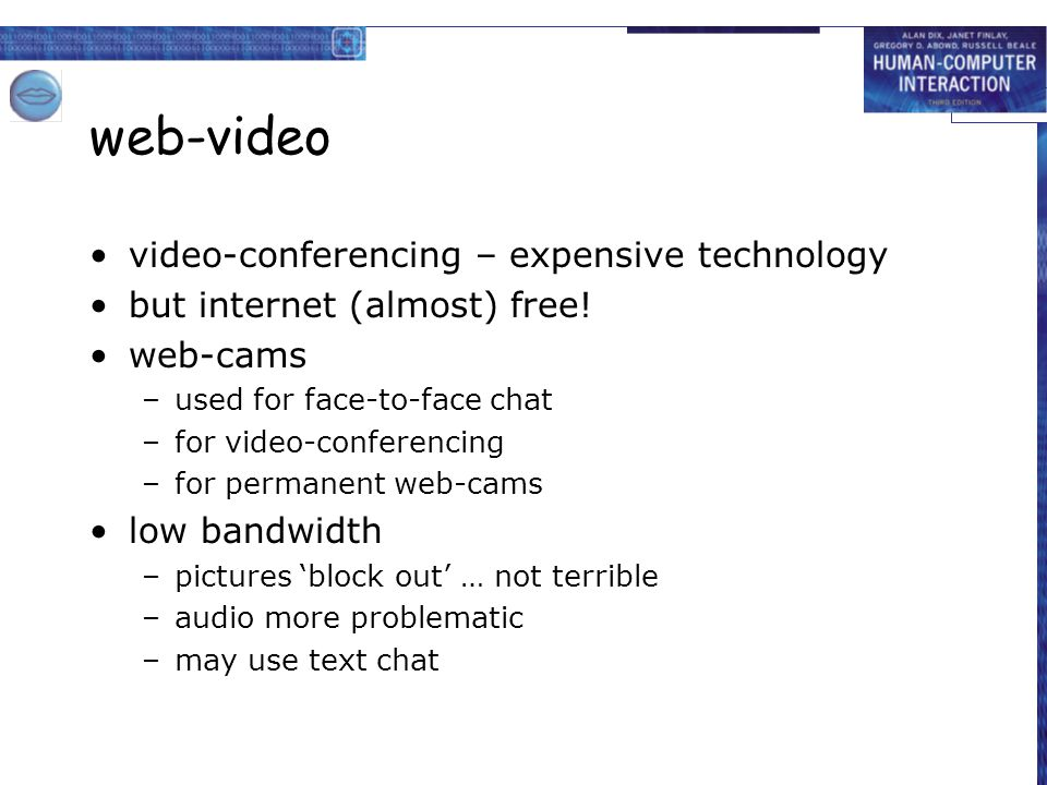 web-video video-conferencing – expensive technology