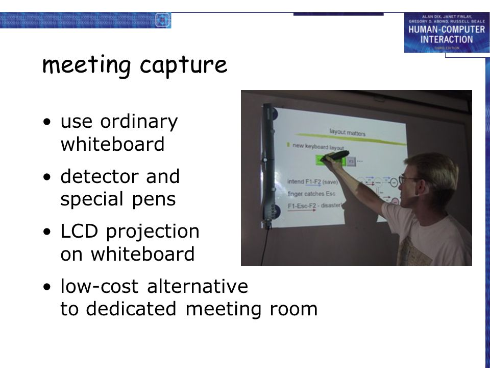 meeting capture use ordinary whiteboard detector and special pens