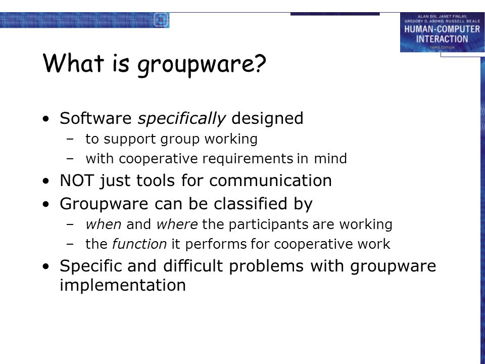 What is groupware Software specifically designed