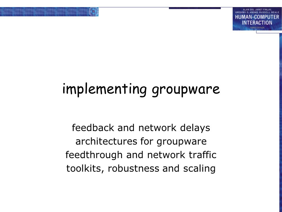 implementing groupware