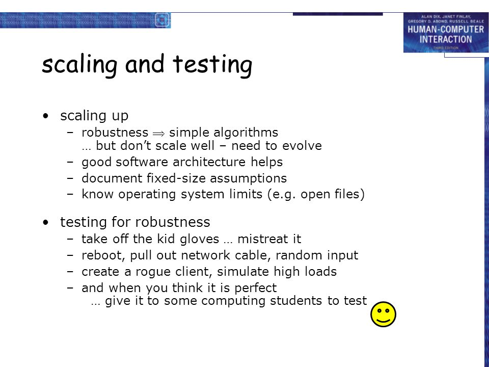 scaling and testing scaling up testing for robustness