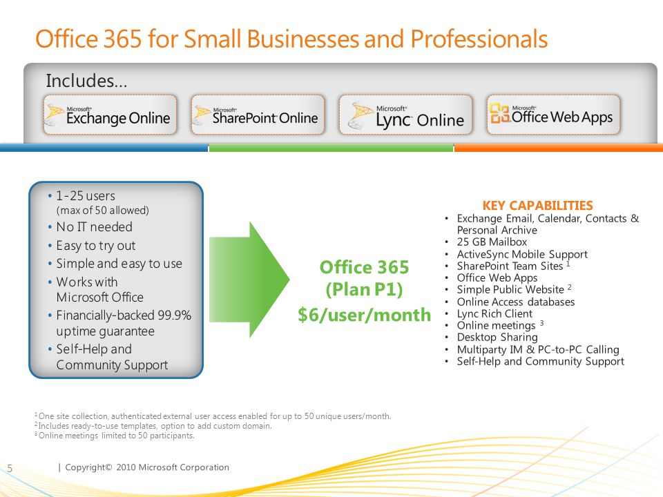 Office 365 for Small Businesses and Professionals