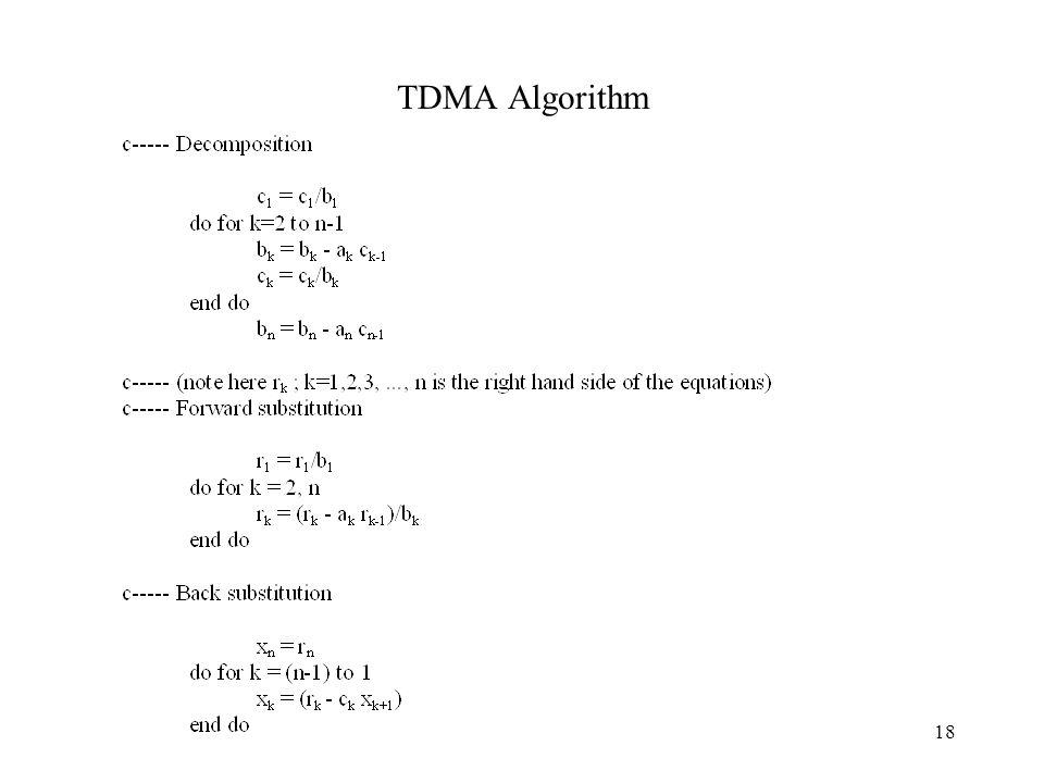 TDMA Algorithm