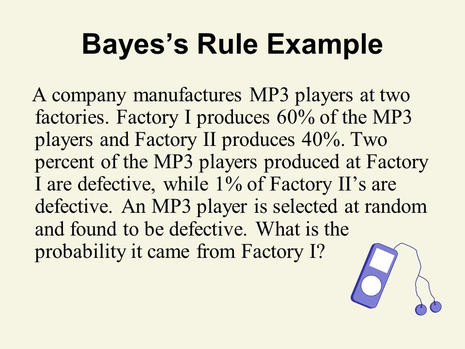 Bayes's Rule Example