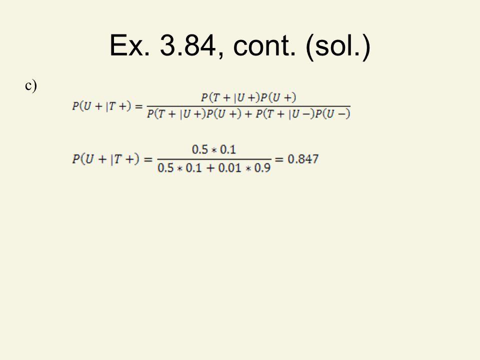 Ex. 3.84, cont. (sol.) c)