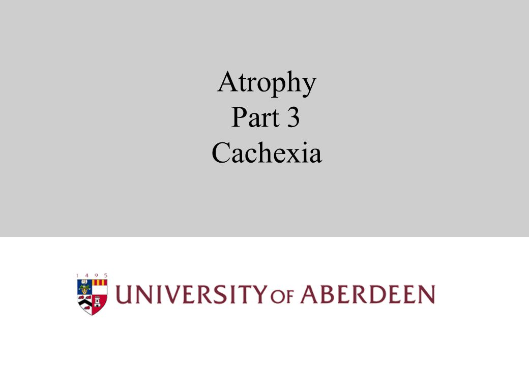 Atrophy Part 3 Cachexia
