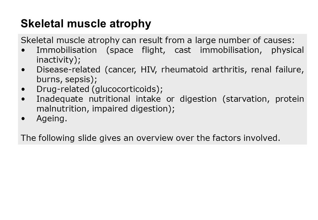 Skeletal muscle atrophy