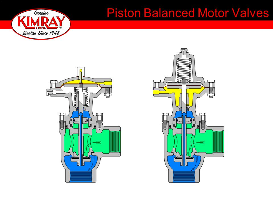 Piston Balanced Motor Valves