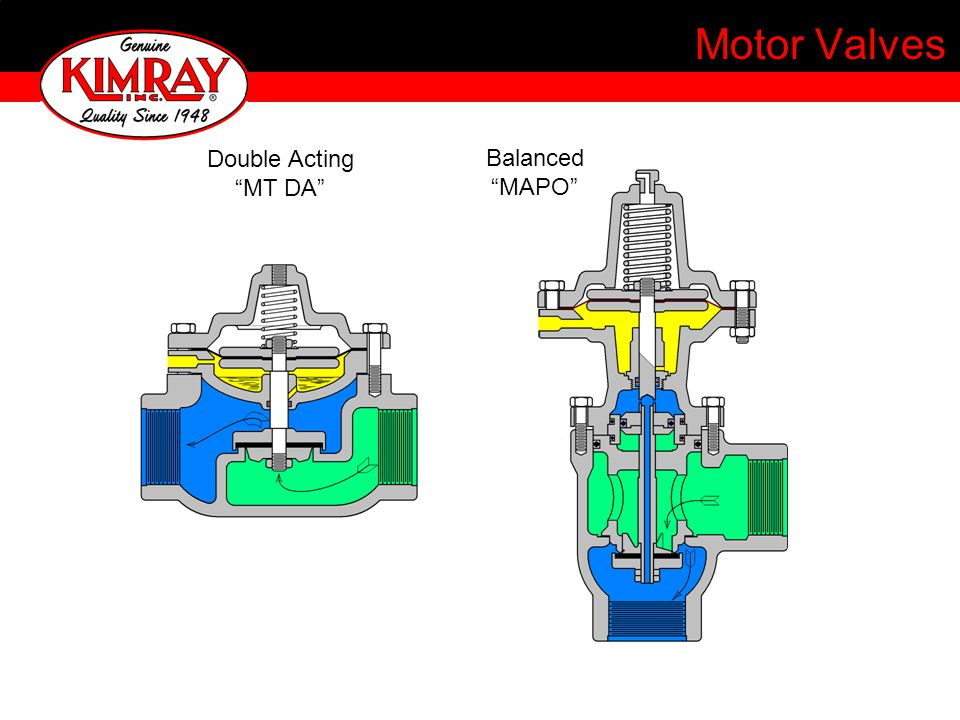 Motor Valves Double Acting MT DA Balanced MAPO
