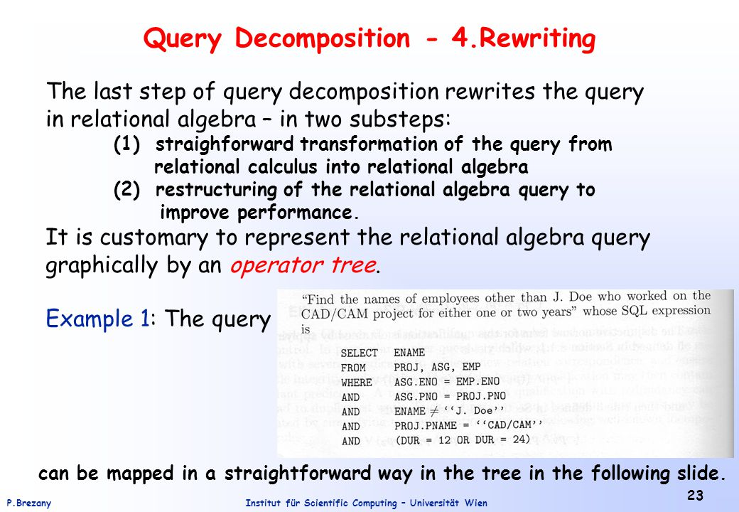 Query Decomposition - 4.Rewriting