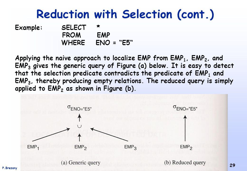Reduction with Selection (cont.)