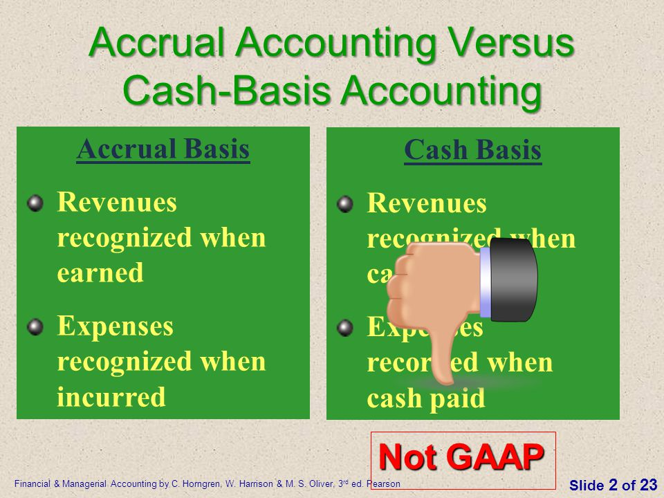 Accrual Accounting Versus Cash-Basis Accounting