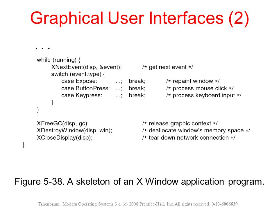 Graphical User Interfaces (2)