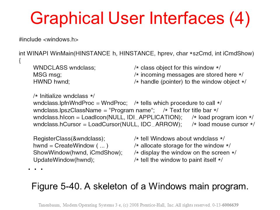Graphical User Interfaces (4)