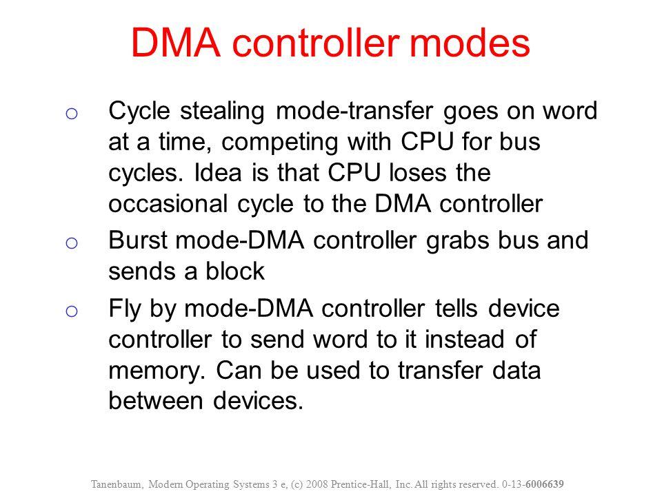 DMA controller modes
