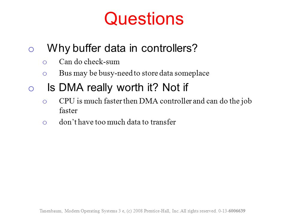 Questions Why buffer data in controllers