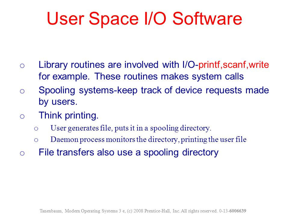 User Space I/O Software