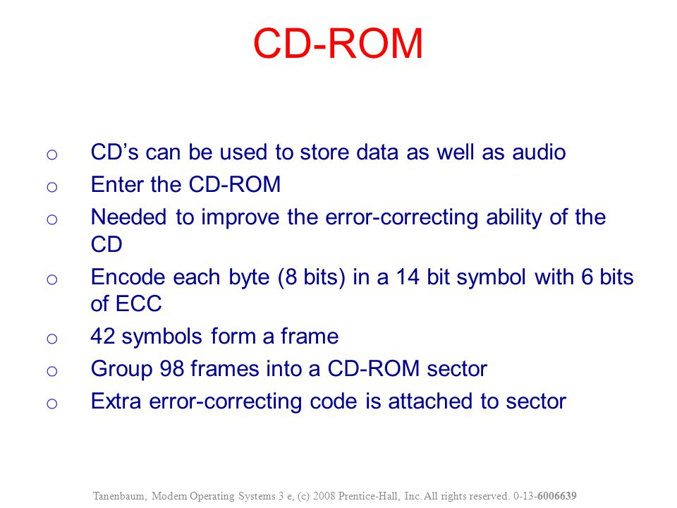 CD-ROM CD's can be used to store data as well as audio