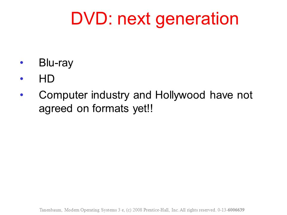 DVD: next generation Blu-ray HD
