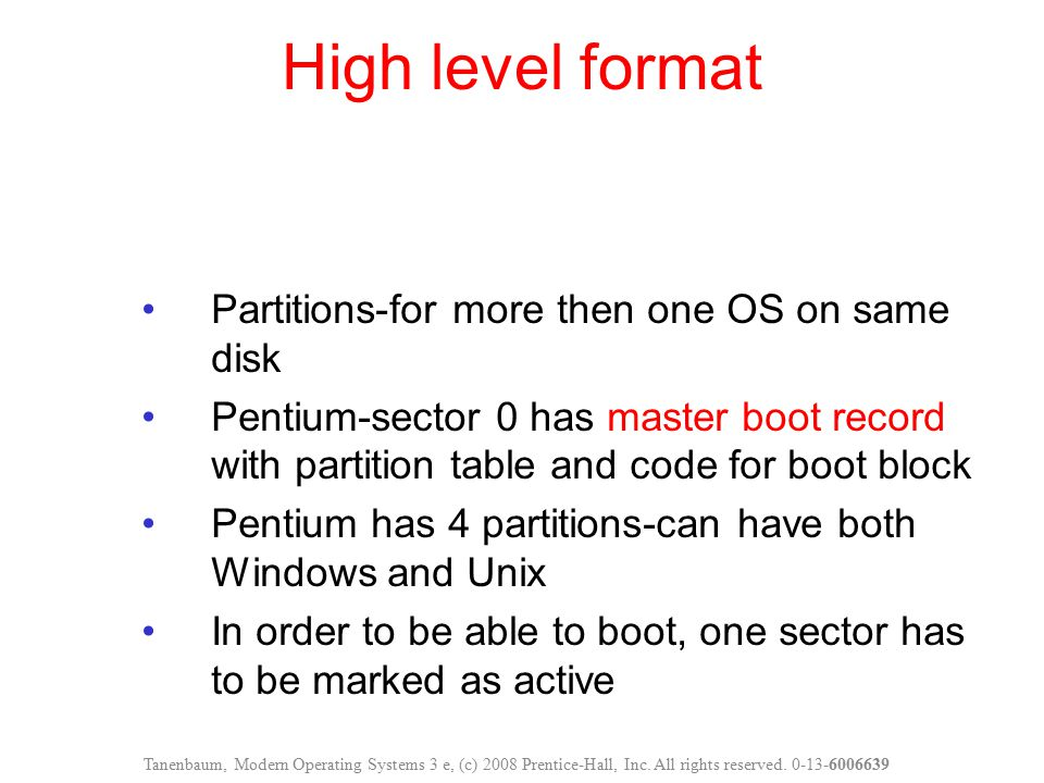 High level format Partitions-for more then one OS on same disk