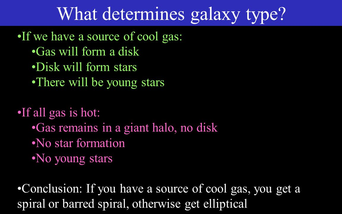 What determines galaxy type