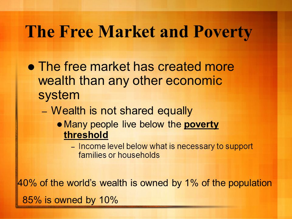The Free Market and Poverty