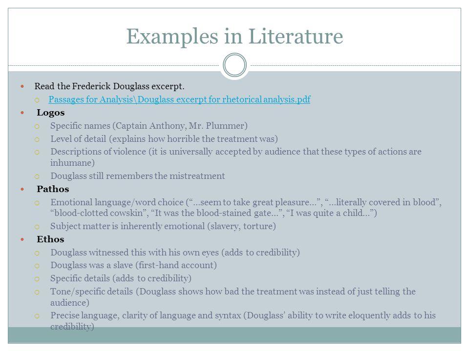 Examples in Literature