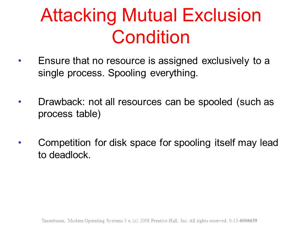 Attacking Mutual Exclusion Condition